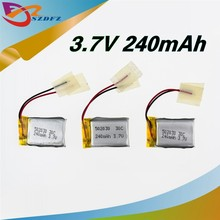 Wholesale 240mAh 30c LiPo Battery For 6020 Syma S107 S108 S109 S026 rc Helicopter rc quadcopter 20 pcs /lot
