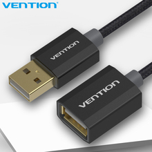 Vention USB2.0 Extension Cotton Braided Cable 0.5m 1m 2m 3m 5m Gold & Nickel Plated Code Cablefor Computer Extender USB2.0 Cable(China)