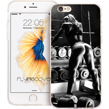 Coque Capa Sexy Fitness Girl Clear Soft TPU Silicone Phone Case for iPhone X 7 8 Plus 5S 5 SE 6 6S Plus 4 5C iPod Touch 6 5 Case(China)