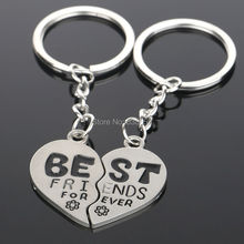 New Product Fashion Couple Designer Keyring Keychain Pendant Holder Silver Key Chain Ring Best Friend Forever tag charm Gift