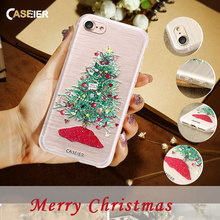 CASEIER Christmas Case For iPhone 6 6s Plus Case 3D Printing Mobile Phone Case Cover For iPhone 7 7 Plus iPhone 5s 5 SE Fundas(China)