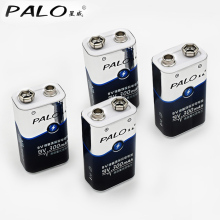 Low price and high quality 4pcs 6LR61 6F22 006p 9V nimh 300mah rechargeable battery for instruments or battery packs
