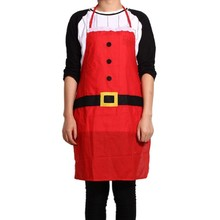 Red Christmas Accessories Decoration Household Party Supplies Kitchen Bar Adult Apron