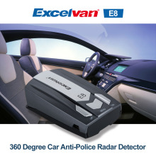 Ship from RU Excelvan E8 Car Radar Detector 360 Degree Speed Safety Anti-Police Scanning Advanced Voice Alert Laser LED Display(China)