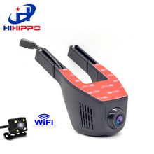 HIhippo Car Dash Cam with Wifi, APP Support IOS Android System, 140 Degree Wide Angle Dashboard Camera Driving Recorder DVR