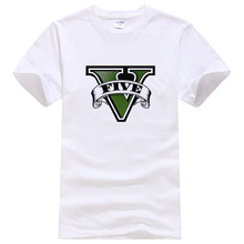 Buy Grand Theft Auto 5 Game Printed Gta-5 T Shirt Men Casual GTA 5 T-shirt Brand TShirts Cotton Tees Camisa #043 for $5.89 in AliExpress store