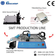 Discount! SMT Production line: CHMT36VA Vision Pick and Place Machine + 4432 Stencil Printer + Reflow Oven T962A, PCB assembly(China)