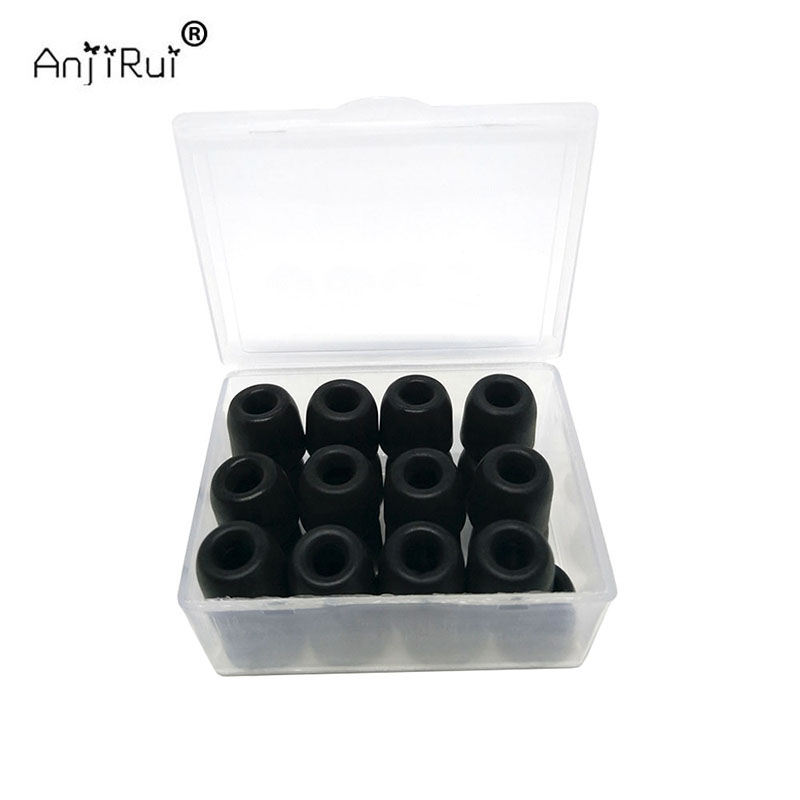 20 pcs/10 pair ANJIRUI T200 (L M S) insulation foam tips for in-ear earphone headset earphones enhanced bass Ear Pads T200(China)