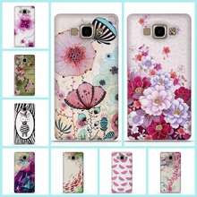 For Samsung Galaxy A5 2015 A500 Case Silicon Soft 3D Flower Phone Back Cover For Fundas Samsung Galaxy A5 2015 A5000 Phone Case