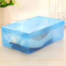 NEW Multifunction Plastic Shoe Box Transparent Crystal Storage Shoebox Household DIY Shoebox Storage(China)
