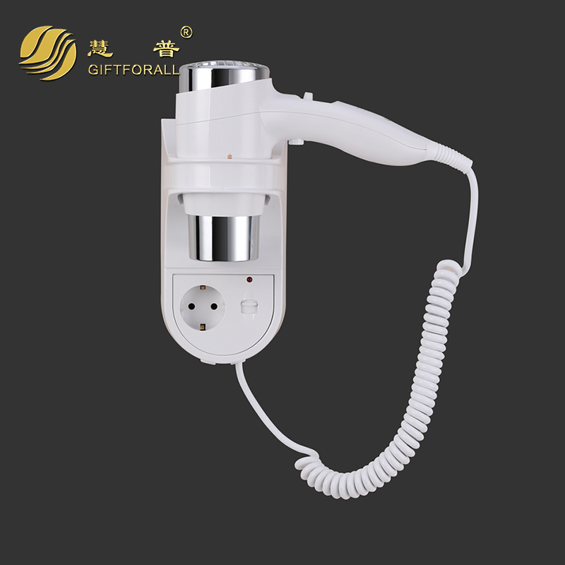 GIFTFORALL Wall-Mounted Hairdryer Hotel Electric Hot/cold Air Less noise Blow Dryer Salon Professional Hairdryers RCY-67430-P<br>