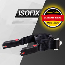 New General ISOFIX interface Carmind Black Secured Fit Child Adult Parts Protecting Adjuster Toddlers Car Safety Seat Belt Kids(China)