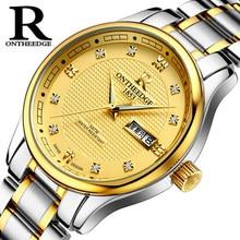 856c4234667 OnTheEdge Ocasional Dos Homens de Quartzo Relógio de Ouro De Luxo Homem de  Negócios de Moda Relógios Em Aço Inoxidável À Prova D..