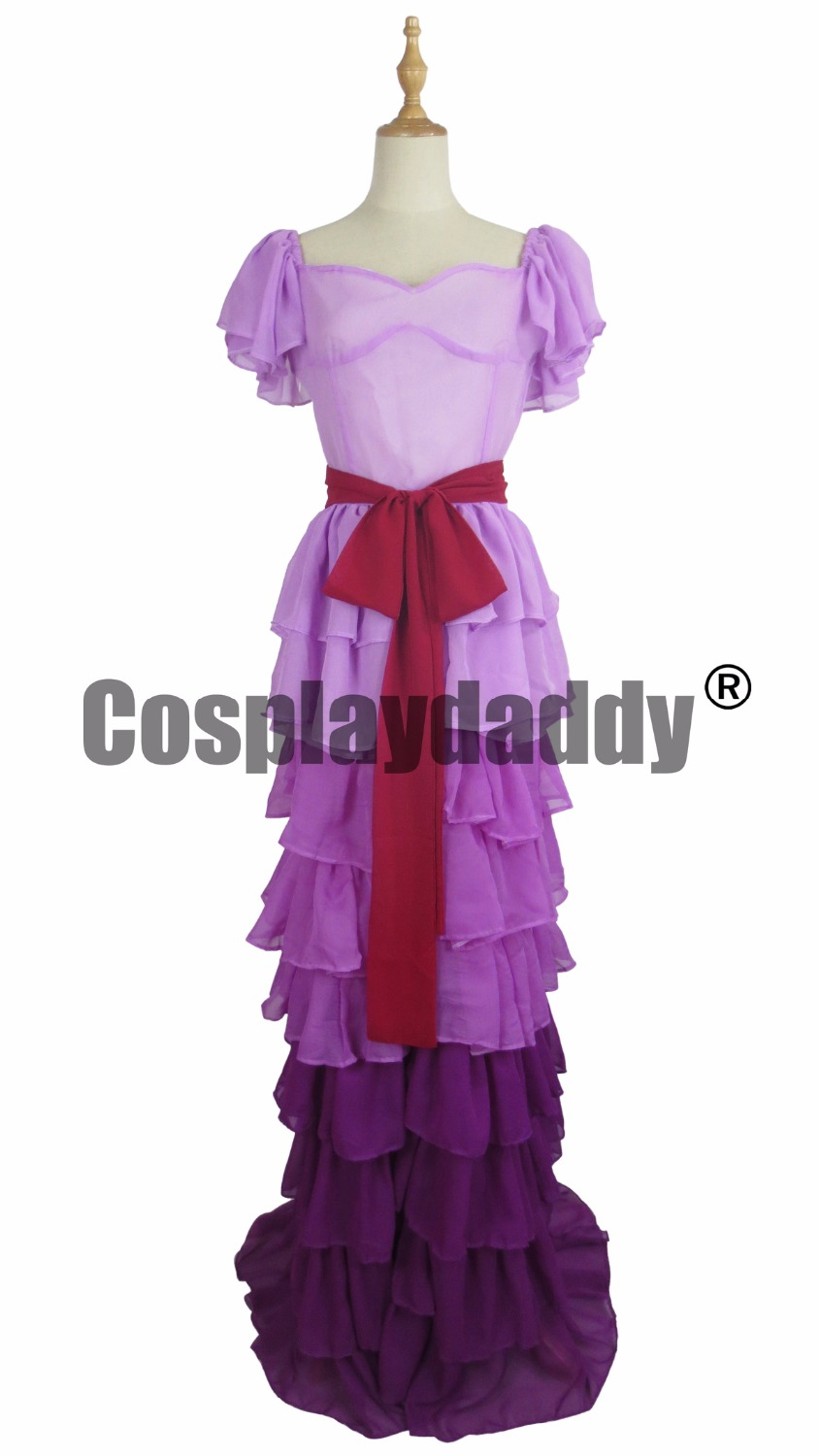 Hermione Jean Granger Yule Ball Purple Dresses Gown Cosplay Costume C018