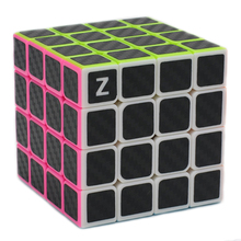 Brand New Zcube 4x4x4 Carbon Fiber Sticker Speed Magic Cube Puzzle Game Cubes Educational Toys Gift for Children Kids