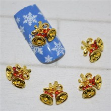 10psc New Christmas bells 3D Nail Art Decorations,Alloy Nail Charms,Nails Rhinestones Nail Supplies #252(China)