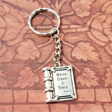 12pcs/lot Once Upon A Time Book Keyring Fairytale Keychain Book Lover  Fantasy Reader Teacher Book Keychain