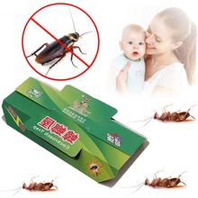 2PCS Non-toxic Cockroach Mosquito Killer Glue Sticky Catcher Cockroach Traps Control Pest Repeller Insect Reject Free Shipping(China)
