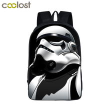 Star Wars Backpack Jedi Sith Knight Backpack Boys Star Wars School Backpacks For Teens Kids School Bags Kindergarten Backpacks(China)