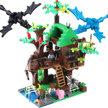 Buy Mine World Island Forest House DIY Building Blocks Bricks Sets Compatible Legoed Minecrafted City Village Toys Children Kids for $16.39 in AliExpress store