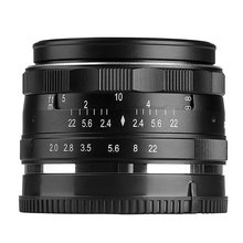 MEKE MK-50mm F2.0 Large Aperture Manual Focus Lens for Canon-EF-M EOS M1/M2/M3(China)