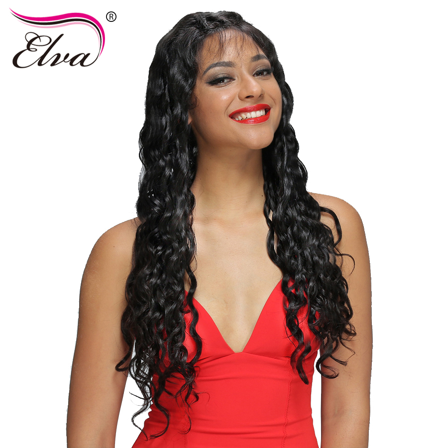 Elva Hair 180% Density Full Lace Human Hair Wigs Pre Plucked Brazilian Remy Hair Curly Wig For Black Women Natural Color 10″-24″
