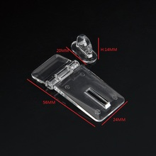 10pcs/LOT HIGH QUALITY 56x24mm Clear Crystal Transparent acrylic hinge Drawer Door Lock Catch(China)