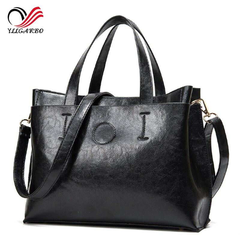 2017 Fashion Designer Brand Women Leather Handbags Ladies Shoulder Bags Tote Bag Female Retro Vintage Crossbody Messenger Bag<br><br>Aliexpress