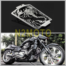 NEW Motorcycle Stainless Steel Radiator Grill Grille Cover Guard for Suzuki Boulevard M109R 2006-2014 Cool Scorpion Flame Style