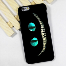 Fit for iPhone 4 4s 5 5s 5c se 6 6s 7 plus ipod touch 4 5 6 back skins phone case cover alice in wonderland cheshire cat