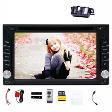 Touch Screen 6.2'' 2 Din Car GPS DVD Player Bluetooth Car Stereo Car Radio Video Player FM AM Wireless Rear Camera+8GB card