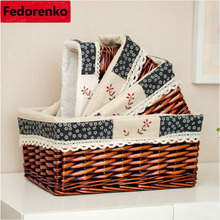 decorative wicker basket organizer for gifts small large wicker storage box toy wicker storage baskets for kids room sundries