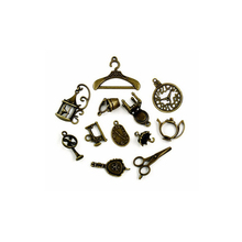 Hot Sale 106pcs/lot Vintage Charms 12style Mix Antique Bronze Alloy Charm Pendant For DIY Fashion Charms Choker Necklace Jewelry
