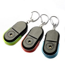1 PC Mini New Wireless Anti-Lost Alarm Key Finder Locator Keychain Whistle Sound LED Light VHD24 P50(China)