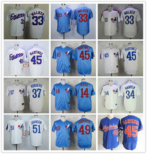 MLB Men's MONTREAL EXPOS Pedro Martinez Larry Walker Jersey(China)