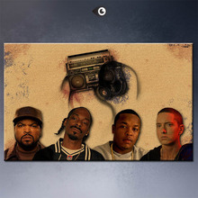 Art Print Wall Poster ice_cube_snoop_dogg_dr_dre__eminem music  painting printed on canvas
