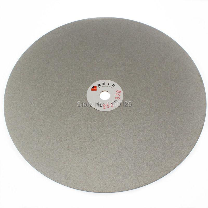 10 inch 250 mm Grit 320 Medium Electroplated Diamond coated Flat Lap Disk Grinding Polishing Wheel Jewelry Glass Rock Ceramics<br><br>Aliexpress