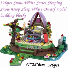 Friends girl 5002 2017 01002 01001 01003 01004 Snow White Series Sleeping Snow Deep Sleep White Dwarf Model brick Girl gift Toy