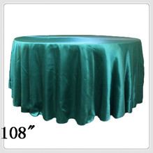 10pcs 108'' Round Satin table cloths round  table cloths for tablecloth round