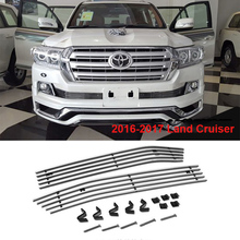 2016 2017 Stainless Steel Front Grille For Toyota Land Cruiser 200 FJ200 Accessories