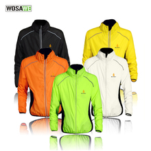 2017 cycling wind jacket skin clothes Fluorescent green reflective long sleeve cycling apparel road bike MTB cycling jacket