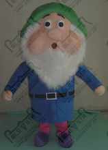 export high quality green hat blue clothes dwarfs costumes hot sale the seven dwarfs costume old father costumes