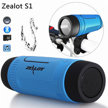 Original Zealot S1 Bluetooth Speaker LED light Wireless Portable Speakers Outdoor Waterproof Torchlight Power Bank FM Radio TF(China)