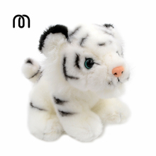 Millffy Soft cub Plush White Siberian Bengal Wild Tiger Teddy Toy Ornaments Baby Animal plush cuddly Toy 6/8 inch(China)