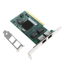 PCI Dual RJ45 Port Gigabit for Ethernet Lan Network Card 10/100/1000Mbps For Intel 82546 #H029#(China)