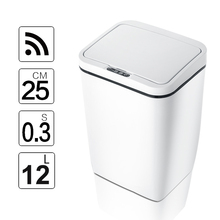 Kitchen Trash Can-Wide-Opening-Sensor Waste-Garbage-Bin Induction-Motion-Sensor Eco-Friendly
