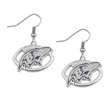 5 Pairs Football Fans Earrings Alloy With Enamel American Football Baltimore Ravens Charm Drop Earrings