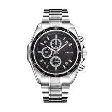 Erkek Kol Saati Relogio Masculino Saat Clock MenWatch Luxury Stainless Steel Quartz Military Sport Steel Band Dial Wrist 17may30