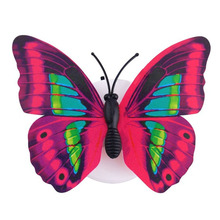 WSFS Hot 10 x Lovely Multi-Color Changing Beautiful Butterfly LED Night Light Lamp (Color: Random)(China)