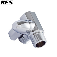 KES Shower Arm 3-Way Diverter Brass for Handheld Shower and Shower Head T-Valve 1/2-Inch IPS Polished Chrome, PV11